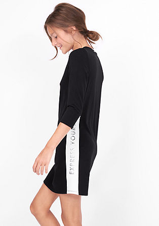 Sweatshirt dress with stripes from s.Oliver