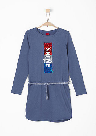 Sweatshirt dress with reversible sequins from s.Oliver
