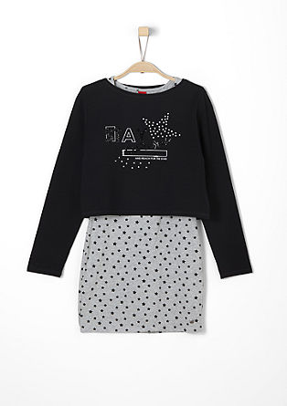 2-in-1 sweatshirt with dress from s.Oliver