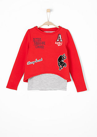 2-in-1: Sweatshirt und Tanktop