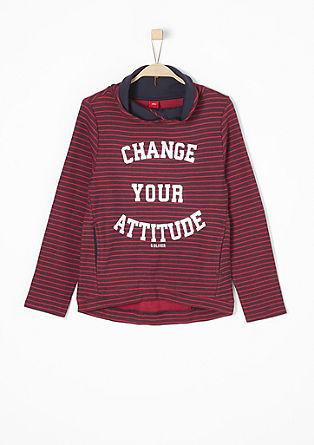 Sweatshirt im Streifen-Look