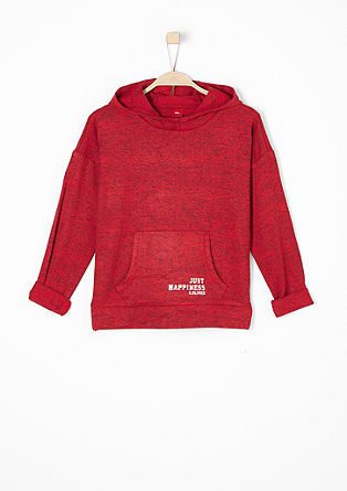 Hooded top with printed lettering from s.Oliver