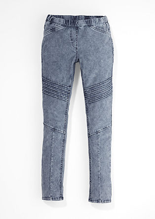 Jeggings im Biker-Look