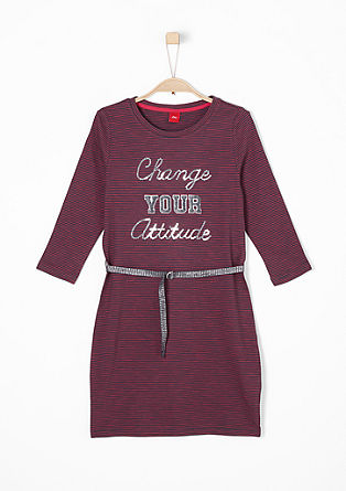 Striped dress with lettering from s.Oliver