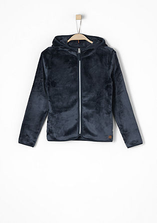 Plush jacket with a shiny zip from s.Oliver