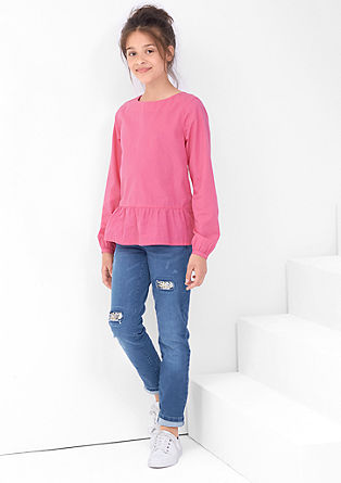 Suri: raztegljive jeans hlače z bleščicami