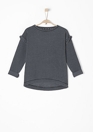 Sweatshirt with flounces on the sleeves from s.Oliver