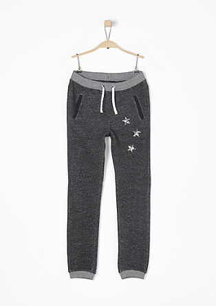 Jogging Pants mit Pailletten-Sternen