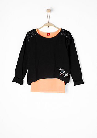 2-in-1-Shirt mit Neon-Top
