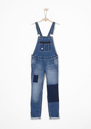 Suri: jeans hlače z oprsnikom