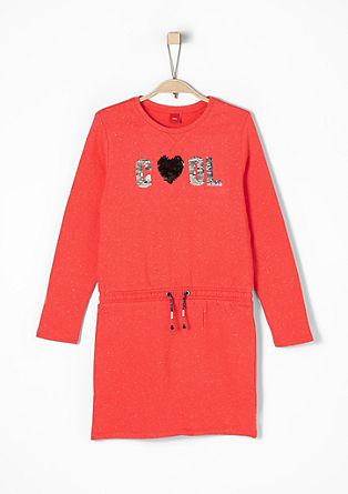 Sweat-Kleid mit Pailletten
