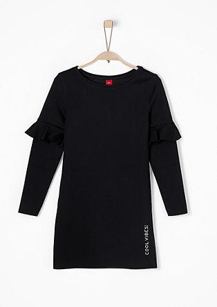 Scuba-Kleid mit Volantärmel