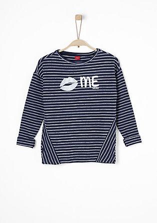 Sweatshirt mit Ringelmuster