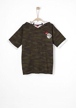 Camouflage-Hoodie mit Pailletten