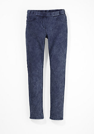Jeggings in Acid Washed-Optik