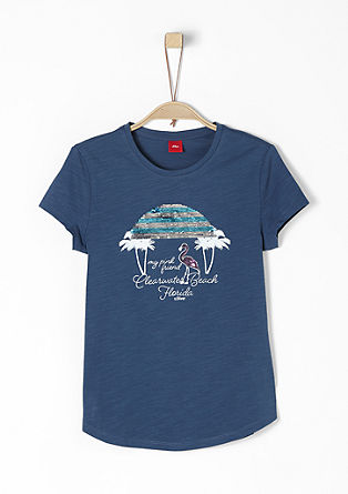 T-Shirt mit Wendepailletten-Artwork