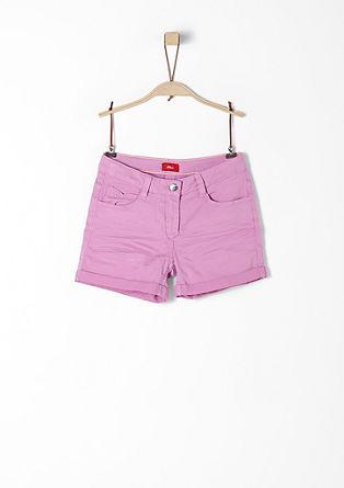 Shorts aus Baumwollstretch
