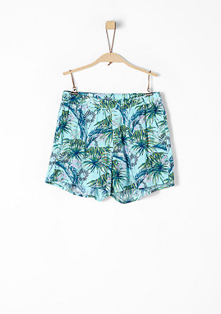 Shorts with an all-over floral print from s.Oliver