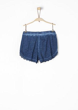 Kratke hlače iz džersija s klekljano čipko