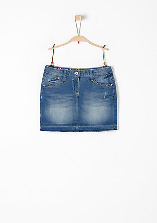 Stretch denim skirt with a vintage effect from s.Oliver