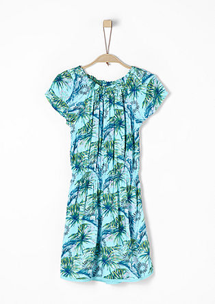 Airy dress with an exotic pattern from s.Oliver
