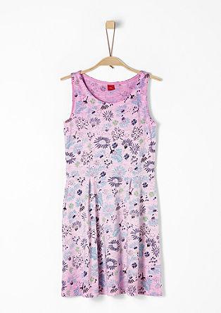 Jersey jurk met motief