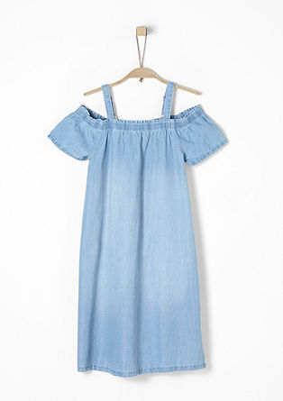Leichtes Off Shoulder-Jeanskleid