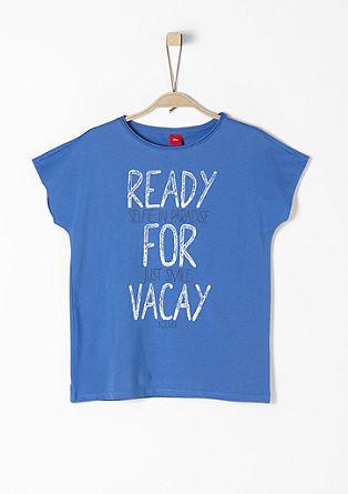 Statement-Shirt mit Glitzer-Schrift