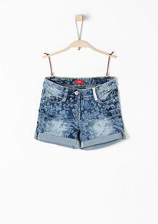 Skinny Suri: Shorts mit Print