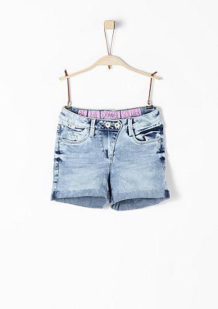 Jeans-Shorts mit heller Waschung