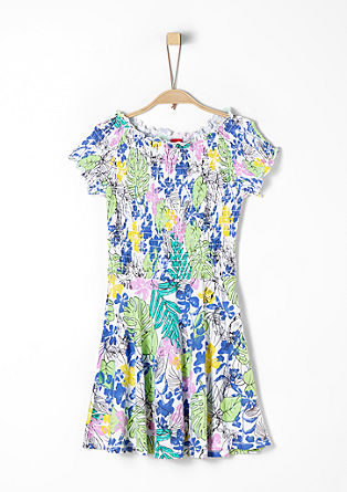 Floral dress with ruffle details from s.Oliver