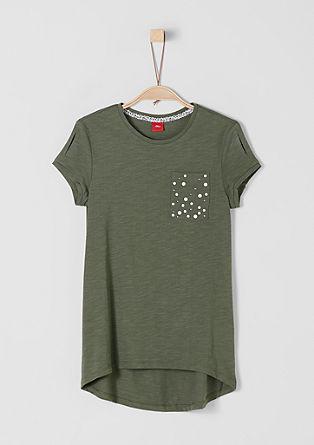 Loose Shape-Shirt mit Nieten