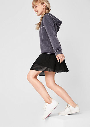 Pleated skirt with a glitter waistband from s.Oliver