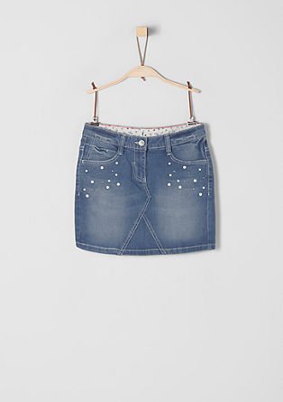 Denim rok met studs