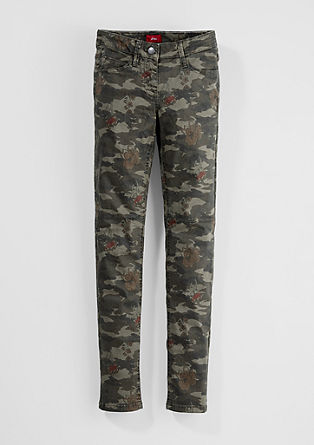 Skinny Suri: camouflage trousers from s.Oliver