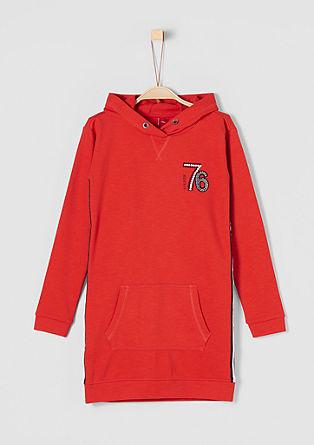 Jurk in hoodie style, met applicatie