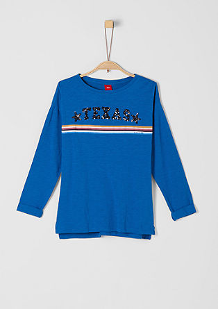 Long sleeve top with sequin lettering from s.Oliver