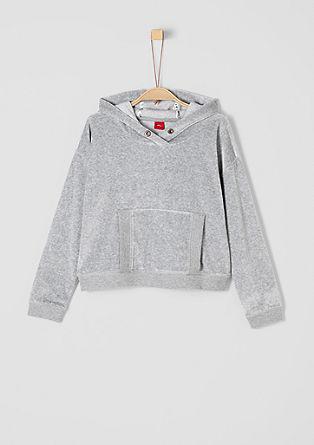 Tričko s kapucí z materiálu niki