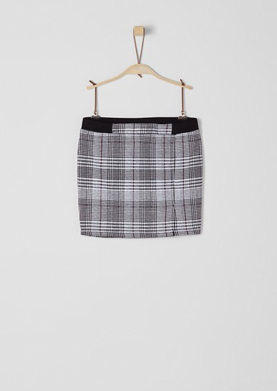 Skirt with a Prince of Wales check pattern from s.Oliver