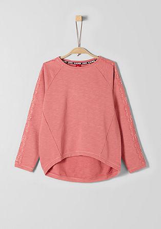 Sweatshirt mit toniger Spitze