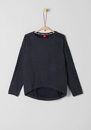 Sweatshirt met ton sur ton kant