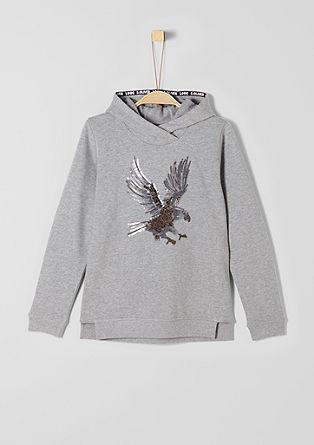 Sweater mit Pailletten-Adler