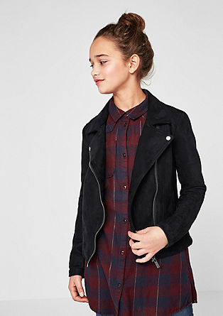 Faux leather biker jacket from s.Oliver