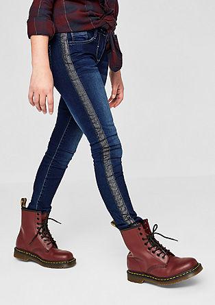 Suri: Warme Jeans mit Deko-Streifen