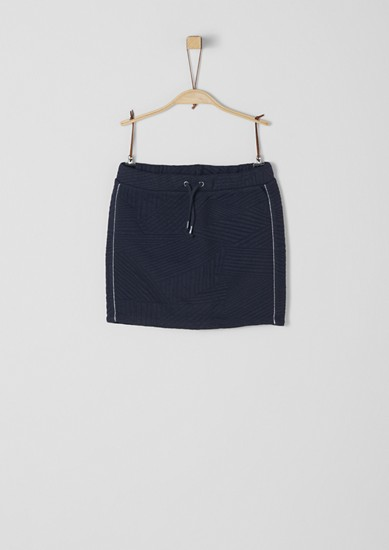 Textured sweatshirt fabric skirt from s.Oliver
