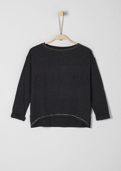 High Low- Shirt mit Glitzergarn