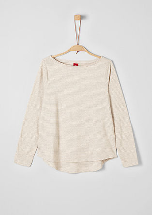 Long sleeve top with glitter stripes from s.Oliver