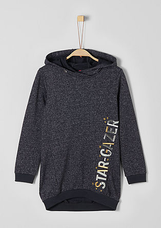 Long-Sweatshirt mit Glitzer-Artwork