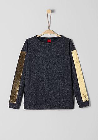 Sweatshirt met 2-zijdige pailletjes