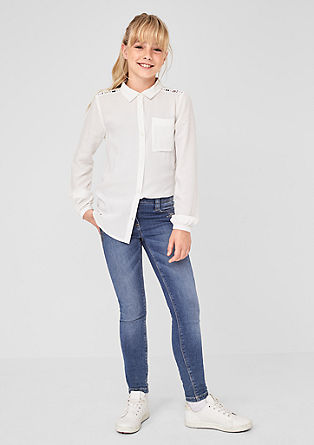 Skinny Suri: Jeans mit Pailletten